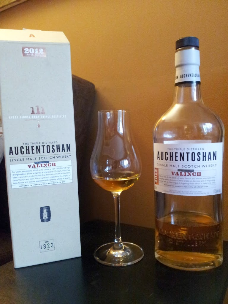 Hard to Pronounce, Easy to Enjoy: Auchentoshan Valinch 2012 Single Malt Scotch
