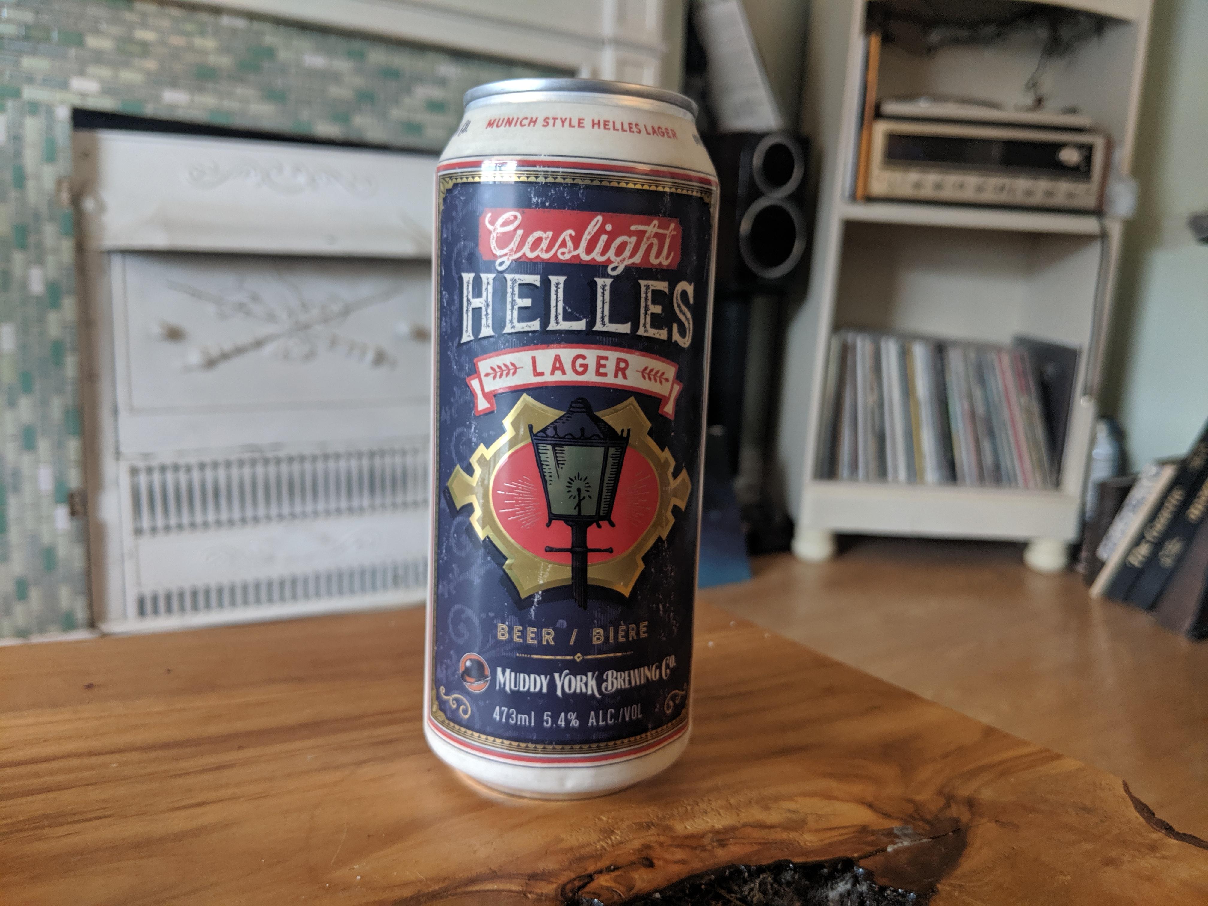 Muddy York's Gaslight Helles Lager is Hella Tasty